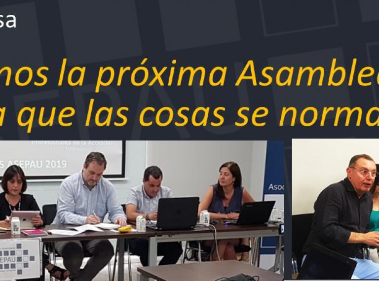"""#yomequedoencasa. Rótulo """"retrasaremos la próxima Asamblea de socios hasta que las cosas se normalicen"""" más imágenes de la Asamblea 2019"""