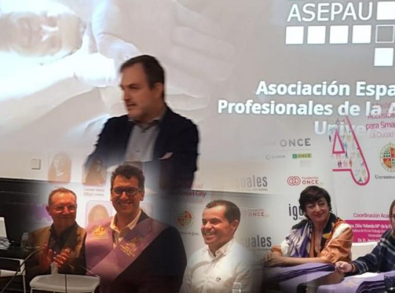 Varias imágenes de socios y de la presentación de ASEPAU en la MAW