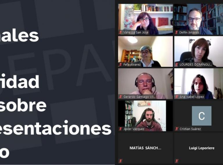 captura de pantalla de la sesión con título de la noticia