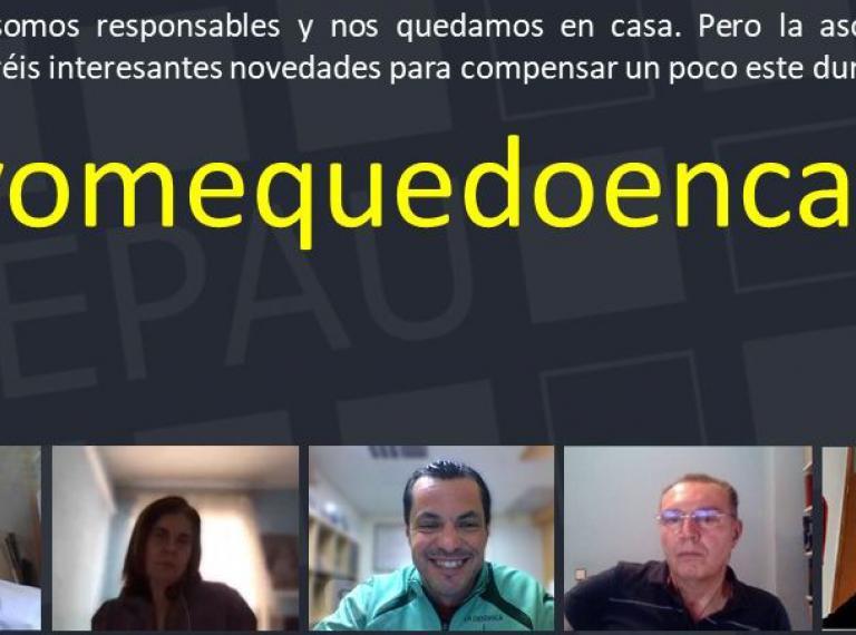 #yomequedoencasa con capturas de Skype de la Junta Directiva