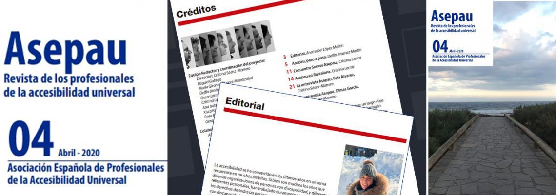 montaje con la portada y páginas 2 y 3 de la revista